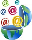 глобус электронной почты Стоковое Фото