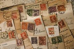 παλαιά γραμματόσημα Στοκ φωτογραφία με δικαίωμα ελεύθερης χρήσης