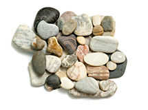 接近的小卵石堆  免版税库存照片