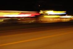 большие яркие света города Стоковые Изображения