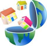 снабжение жилищем глобуса Стоковая Фотография