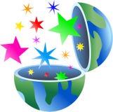 глобус звёздный Стоковая Фотография