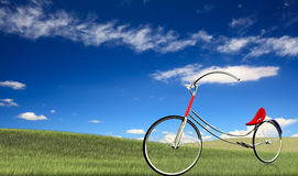 None brand concept bike. With nice background Royalty Free Stock Photos