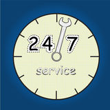 None stop service. Now a day, business must  none stop service Royalty Free Stock Photo