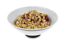 Nonfat Black Cherry Yogurt Granola. Nonfat black cherry yogurt topped with granola Royalty Free Stock Images