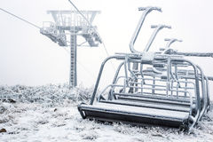 Nonfunctional ski lift Royalty Free Stock Photography