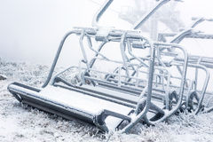 Nonfunctional ski lift Stock Images