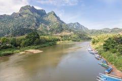 Nong Khiaw en Laos del norte Fotografía de archivo libre de regalías
