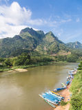 Nong Khiaw in north Laos Stock Photo
