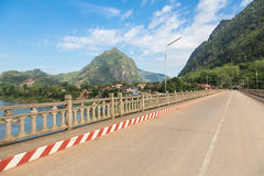 Nong Khiaw in north Laos Stock Image