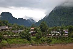 Nong Khiaw village Stock Image