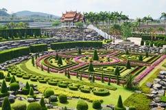 Nong Nooch庭院在芭达亚,泰国 免版税库存图片