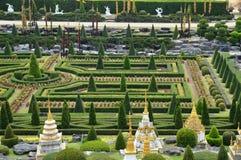 Nong Nooch庭院在芭达亚 免版税库存照片