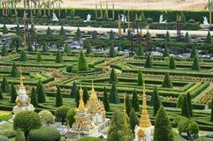 Nong Nooch庭院在芭达亚 库存图片