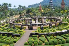 Nong Nooch庭院在芭达亚 免版税库存图片