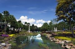 Nong Nooch庭院风景。 库存照片