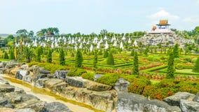 Nong Nooch庭院,芭达亚,泰国 库存照片