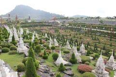 Nong Nooch庭院 库存图片