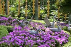 Nong Nooch热带庭院在芭达亚 图库摄影