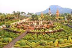 Nong Nooch热带庭院泰国 免版税库存图片