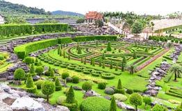Nong Nooch热带植物园在泰国 免版税库存图片