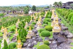 Nong Nooch热带植物园在泰国 库存照片