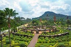 Nong Nooch热带植物园,芭达亚,泰国 免版税库存图片
