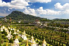 Nong Nooch Garden in Pattaya Stock Photo