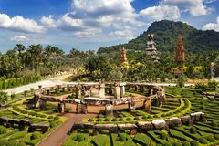 Nong Nooch Garden in Pattaya Royalty Free Stock Images