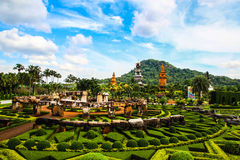 Thailand garden Pattaty city. Royalty Free Stock Photo