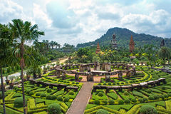 Nong Nooch Tropical Botanical Garden, Pattaya, Thailand Royalty Free Stock Images