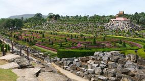 Nong Nooch Tropical Garden, Pattaya Royalty Free Stock Photo