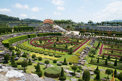 Nong Nooch tropical garden Stock Photos