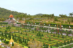 Nong Nooch tropical garden in Pattaya Royalty Free Stock Photo