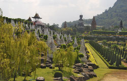 Nong Nooch Tropical Park in Thailand Stock Photos