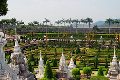 Nong Nooch Tropical Park Royalty Free Stock Images
