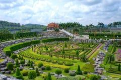 Nong Nooch tropisk botanisk trädgård, Pattaya, Thailand Arkivfoto