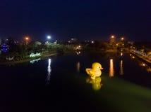 Nong Prajak Jawny park, punkt zwrotny w Udon (Udon Thani, Tajlandia,) zdjęcie stock