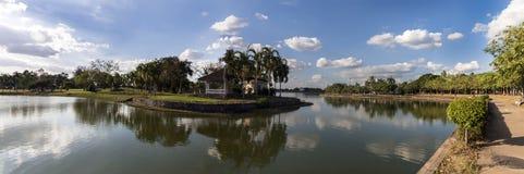 Nong Prajak Public Park Panorama Stockfoto