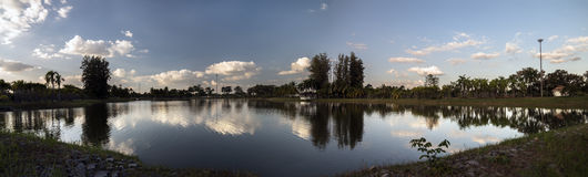 Nong Prajak Public Park Panorama Lizenzfreies Stockbild