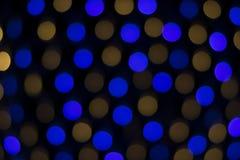 Nong Prajak Public Park Udon Thani, Thailand-bokeh LED blüht bunte belichtete Plastikglasfasern in der Dunkelheitsrückseite Lizenzfreies Stockbild