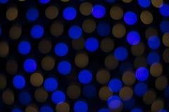 Nong Prajak Public Park Udon Thani, Thailand-bokeh LED blüht bunte belichtete Plastikglasfasern in der Dunkelheitsrückseite Stockbilder