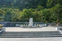 Nong Van Den grave. Teammate Kim first members of Vietnam Stock Images