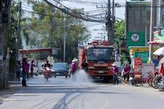 Nongjom街道管理机构消防车  免版税库存图片