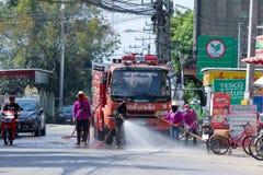 Nongjom街道管理机构消防车  库存照片