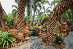 NongNooch热带植物园 库存图片