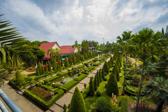NongNooch热带植物园 免版税图库摄影