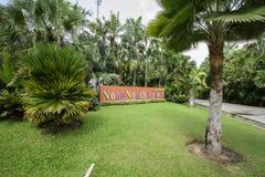 NongNooch den tropiska botaniska trädgården arkivfoto