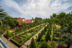 NongNooch den tropiska botaniska trädgården Royaltyfri Fotografi