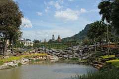 Nongnooch Garden. At Chonburi, Thailand royalty free stock image
